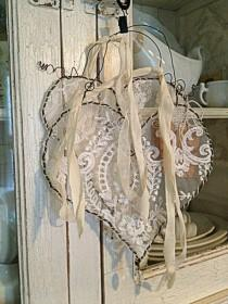 wedding photo - Hanging Wire Lace Heart