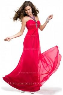 wedding photo -  Cheap Sheath/Column Halter Sleeveless Formal Dress