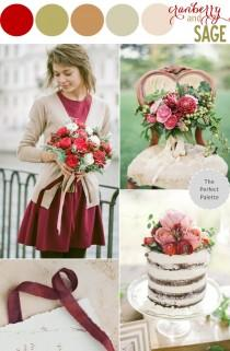 wedding photo - Color Story: Cranberry   Sage