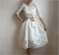 wedding photo - Ellie--2 Piece, Lace And Cotton Wedding Dress--Etsy Exclusive--Reserved For Laura Van Grinsven