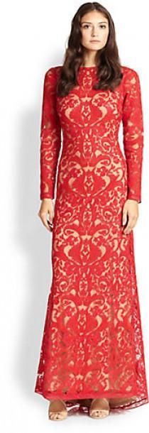 wedding photo - Tadashi Shoji Cord-Embroidered Lace Gown