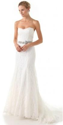 wedding photo - Love, Yu Strapless Lace Gown