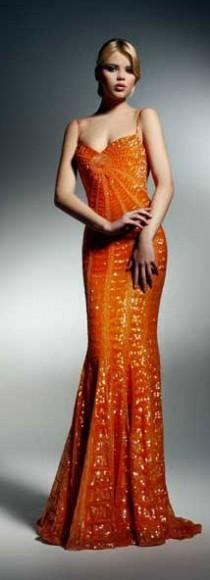 wedding photo - Gowns....Orange Obsessions