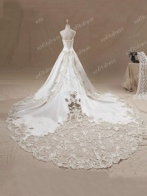 wedding photo - Lace Wedding Dresses, Princess Wedding Dress, Ivory Wedding Dresses, Strapless Wedding Dresses, Wedding Dresses, BE0313