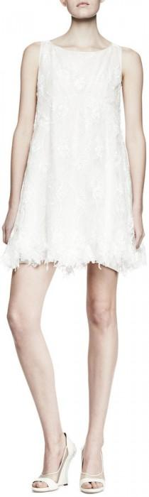 wedding photo - Nina Ricci Sleeveless Lace Babydoll Dress