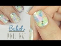 wedding photo - Bokeh Nail Art!