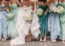 wedding photo - Ombre Bridesmaids' Dresses