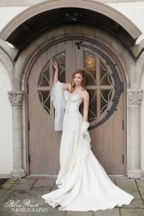 wedding photo - Vintage Inspired Mermaid Wedding Dress, Lace And Hemp Silk Wedding Dress, Strapless Sweetheart Neckline Eco Friendly
