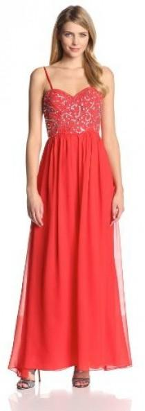 wedding photo - Hailey by Adrianna Papell Women's Strapless Sweetheart Neck Embroidered Gown