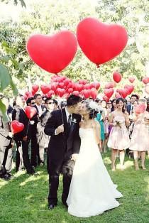 wedding photo - 50 Ways To Add Hearts To Your Wedding