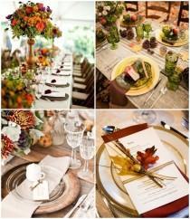 """wedding photo - Comment décore-t-on un mariage d'automne ? """" Mariage.com - Robes, Déco, Inspirations, Témoignages, Prestataires 100% Mariage"""