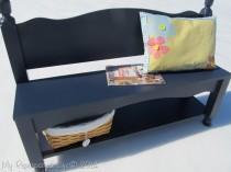 wedding photo - How to Make Bench Storage Shelf - DIY & Crafts - Handimania