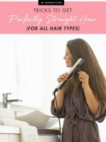 wedding photo - Tricks to Get Perfectly Straight Hair (for ALL Hair Types)
