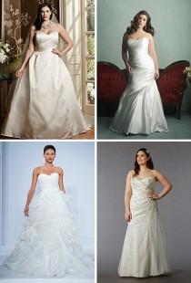 wedding photo - Strapless Plus Size Wedding Dresses