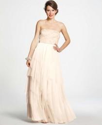 wedding photo - Beaded Tulle Strapless Wedding Dress