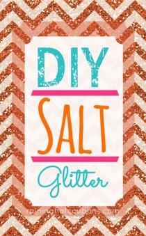 wedding photo - DIY Salt Glitter