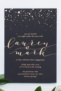wedding photo - Gold Foil Wedding Invitations