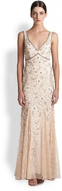 wedding photo - Sue Wong Beaded & Floral Embroidered Tulle Gown