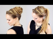 wedding photo - Quick Beautiful Goddess Bun + Ponytail Option