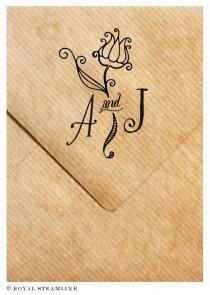 wedding photo - Monogram Stamp No. 9