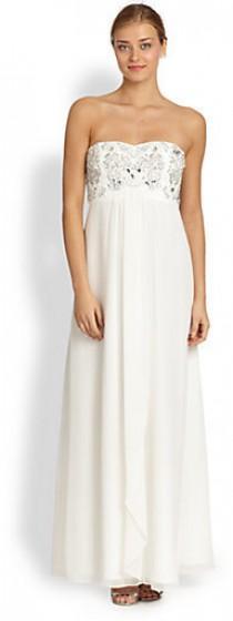 wedding photo - Aidan Mattox Embellished Strapless Empire Gown