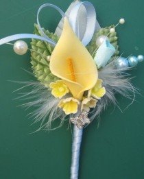 wedding photo - SPRING - Calla Lily Boutonniere