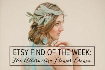 wedding photo - Etsy Find of the Week: The Alternative Flower Crown