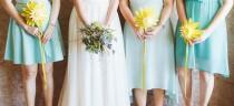 wedding photo - Sunny Paper Flower Wedding at Old Mac Daddy by Dear Heart Photos {Cornelia & Paul}
