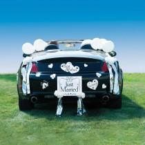 wedding photo - Just Married Wedding Car Decoration Kit