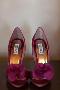 wedding photo - Burgundy-Wedding-Shoes