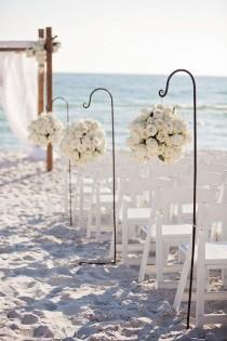 wedding photo - A Modern Glam Sparkle And White Destination Wedding
