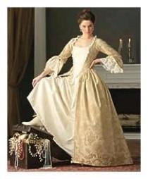 wedding photo - Bridesmaid Marie Antoinette Gown Elizabeth Swan Dress Colonial Dress Made To Your Measurements Choice Of Color