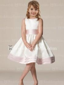 wedding photo -  Knee Length Flower Girl Dress