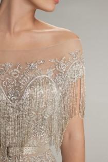 wedding photo - Illusion Silver Beading