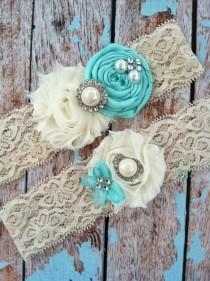 wedding photo - Fall SALE - Wedding Garter / Bridal Garter/ Lace Garter / Toss Garter /baby Blue / Something BLue Wedding Garter / Vintage Inspired Lace