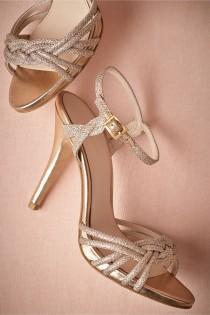 wedding photo - Gold-Braided Heels