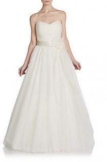 wedding photo - Charlotte Strapless Tulle Bridal Gown