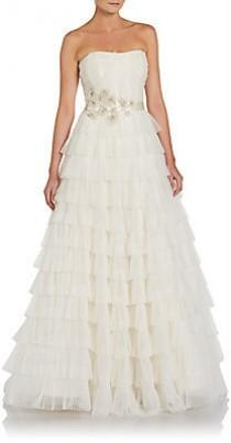 wedding photo - Strapless Tiered Tulle Gown