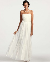 wedding photo - Grosgrain Ribbon Strapless Wedding Dress
