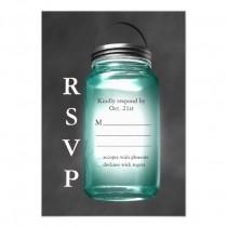 wedding photo - Love Mason Jars RSVP