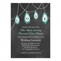wedding photo - Love Mason Jars Wedding Invitation