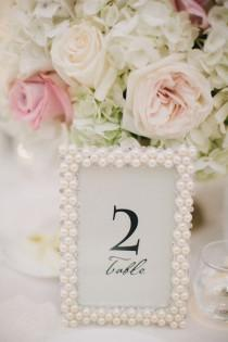 wedding photo - Pearl Frame Table Number