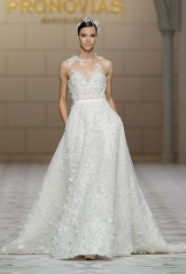 wedding photo - Pronovias Wedding Dresses Fall 2015 Bridal Runway Shows Brides.com