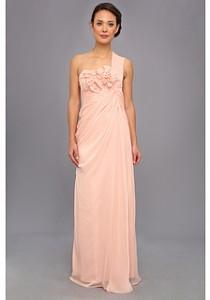 wedding photo - Adrianna Papell Long Irri Chiffon Rosette One Shoulder (Bridesmaid)