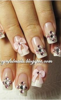wedding photo - 10 Stunning Rhinestone Nail Art Designs To Try Out