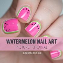 wedding photo - Watermelon Nail Art Tutorial