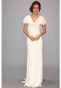 wedding photo - Nicole Miller Silk Stretch Flutter Sleeve Bridal Gown
