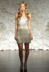 wedding photo - Naeem Khan Wedding Dresses Feature Glam Feather And Sequin Details For Fall/Winter 2015