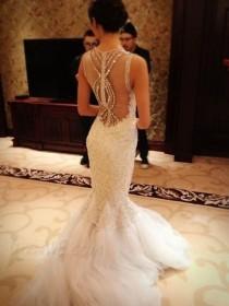wedding photo - $255.59 Dresswe.com SUPPLIES Sexy Mermaid Lace Beads Luxury Wedding Dress