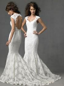 wedding photo - lace wedding dress